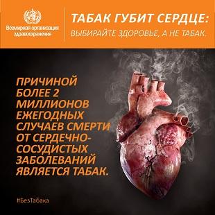 Всемирный день без табака. Постер соц сети, маленький.